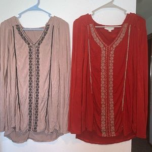 2 Suzanne betro long sleeve tunic top size large